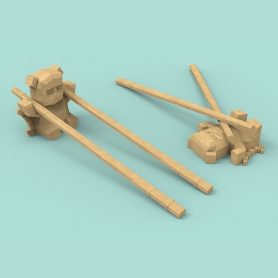 sgwv.jpg Download free STL file Panda chopsticks rests / holder • 3D printer model, Atomicosstudio