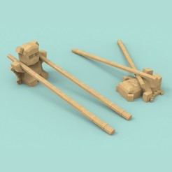 Download free STL Panda chopsticks rests / holder, Atomicosstudio