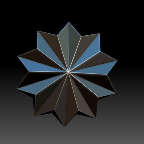 origami3.jpg Download OBJ file Origami Shape Pendant • 3D printing design, Merve