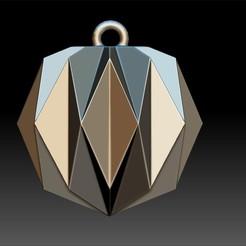 3D printing model Origami Shape Pendant, Merve