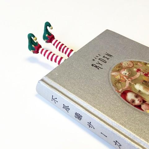 STL Marcador de libros de los elfos de Navidad, Merve