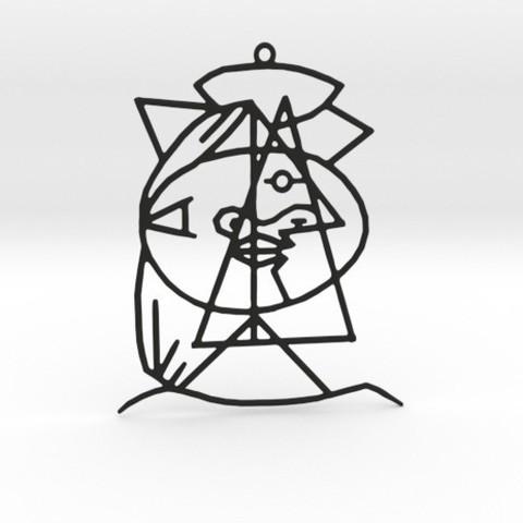3D printer files Picasso Pendant, Merve