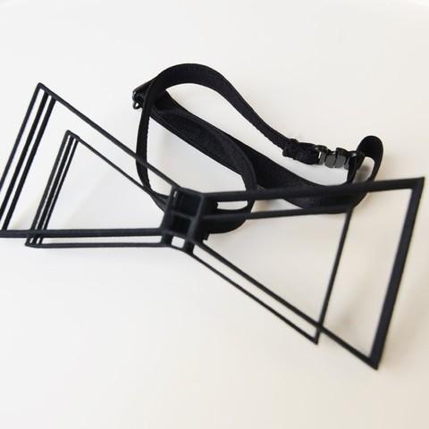 Objet 3D Nœud papillon géométrique, mo_mo