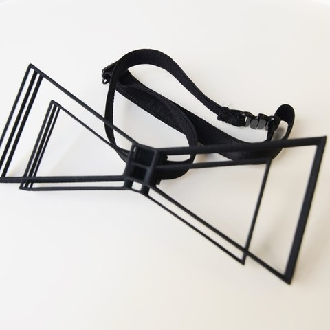 stl Geometric Bow Tie, mo_mo