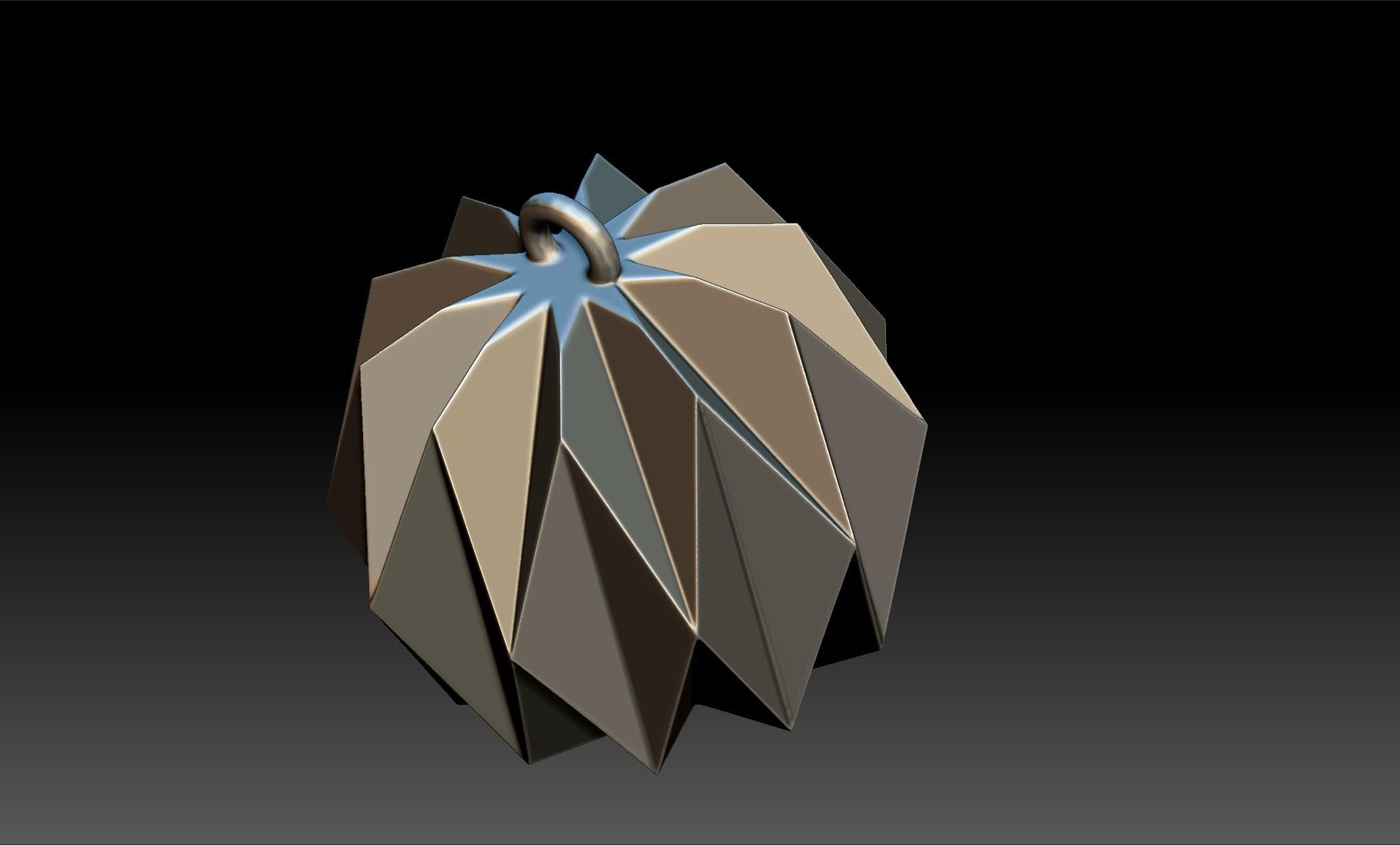 origami2.jpg Download OBJ file Origami Shape Pendant • 3D printing design, Merve
