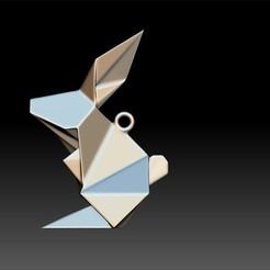 Download 3D model Origami Rabbit Pendant, Merve