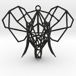 Download 3D printer model Elephant Geometric Pendant, Merve