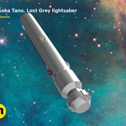 KEYSHOT-SCENA-2020_lostgrey_cameras-bottom.368.png Télécharger fichier STL Ahsoka Tano, sabre laser gris perdu (Guerre des clones) • Plan pour imprimante 3D, 3D-mon
