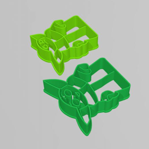 yoda3.png Download STL file Yoda Baby Cookie Cutter Mandalorian • 3D printer design, 3D-mon