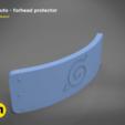 STL file Naruto Forehead protector, 3D-mon