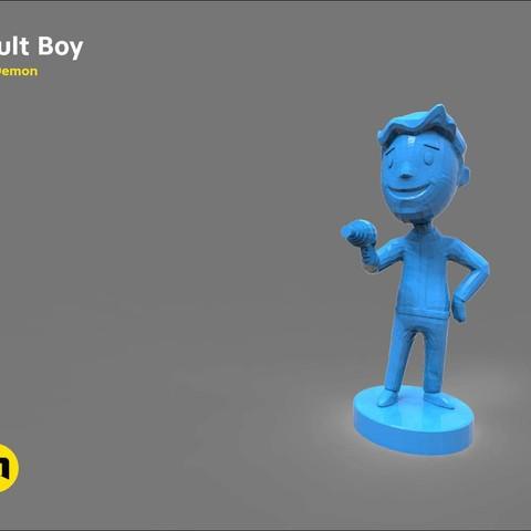Download 3D printer files Vault boy, 3D-mon