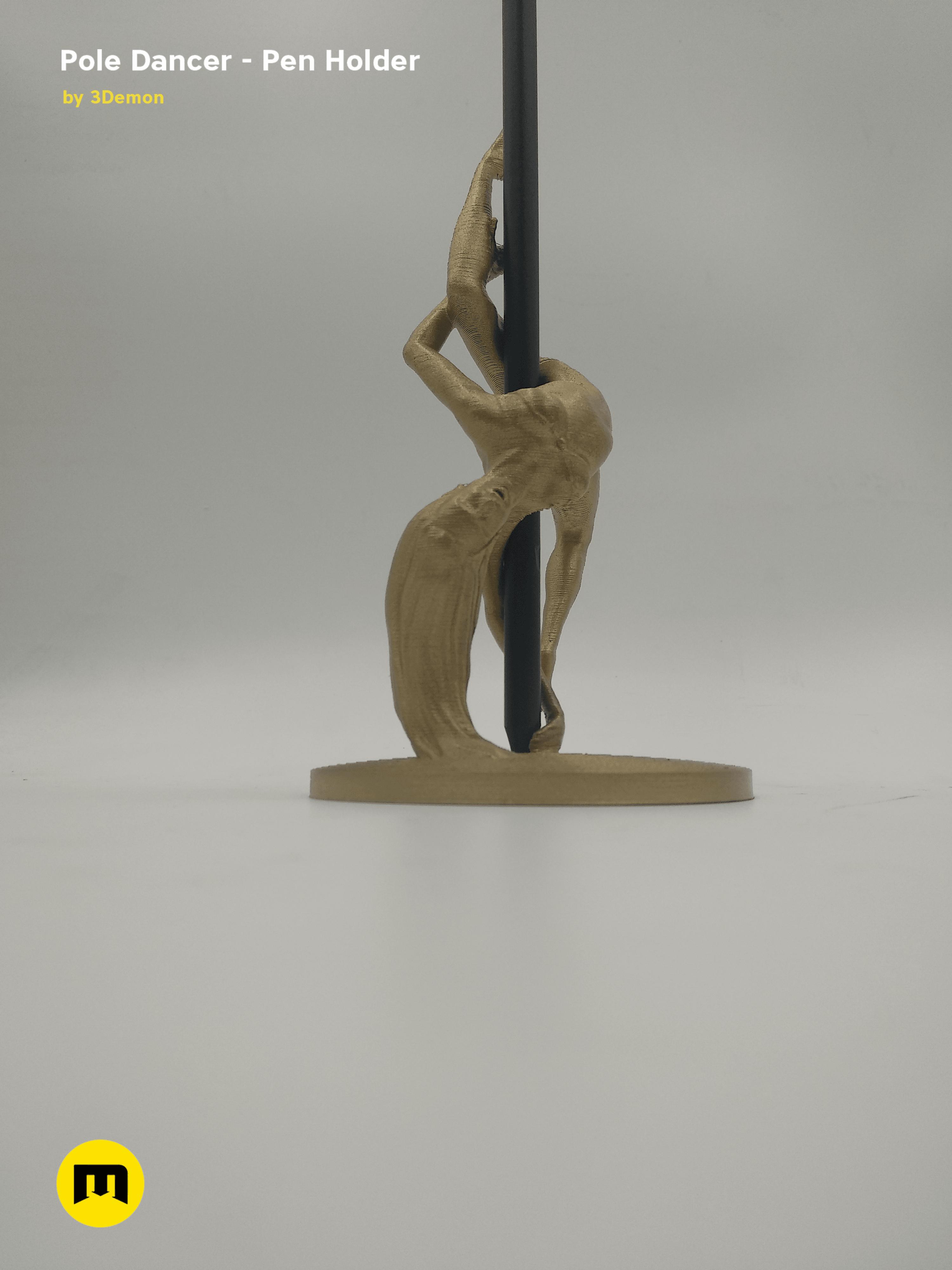 IMG_20190220_084848.png Download STL file Pole Dancer - Pen Holder • Object to 3D print, 3D-mon