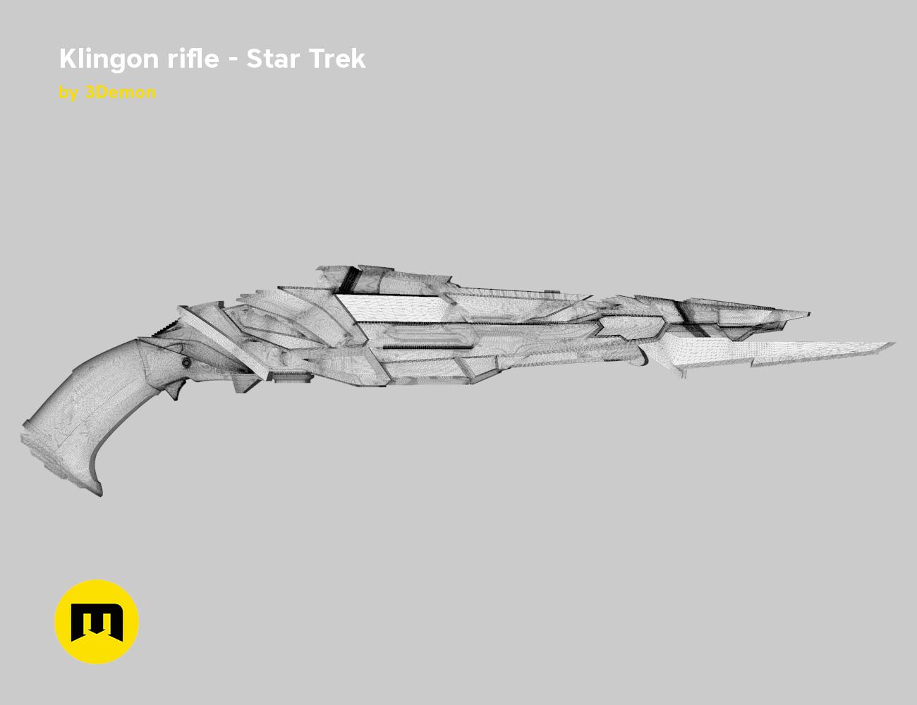 render_rifle_mesh.802.jpg Download STL file Klingon rifle • Model to 3D print, 3D-mon