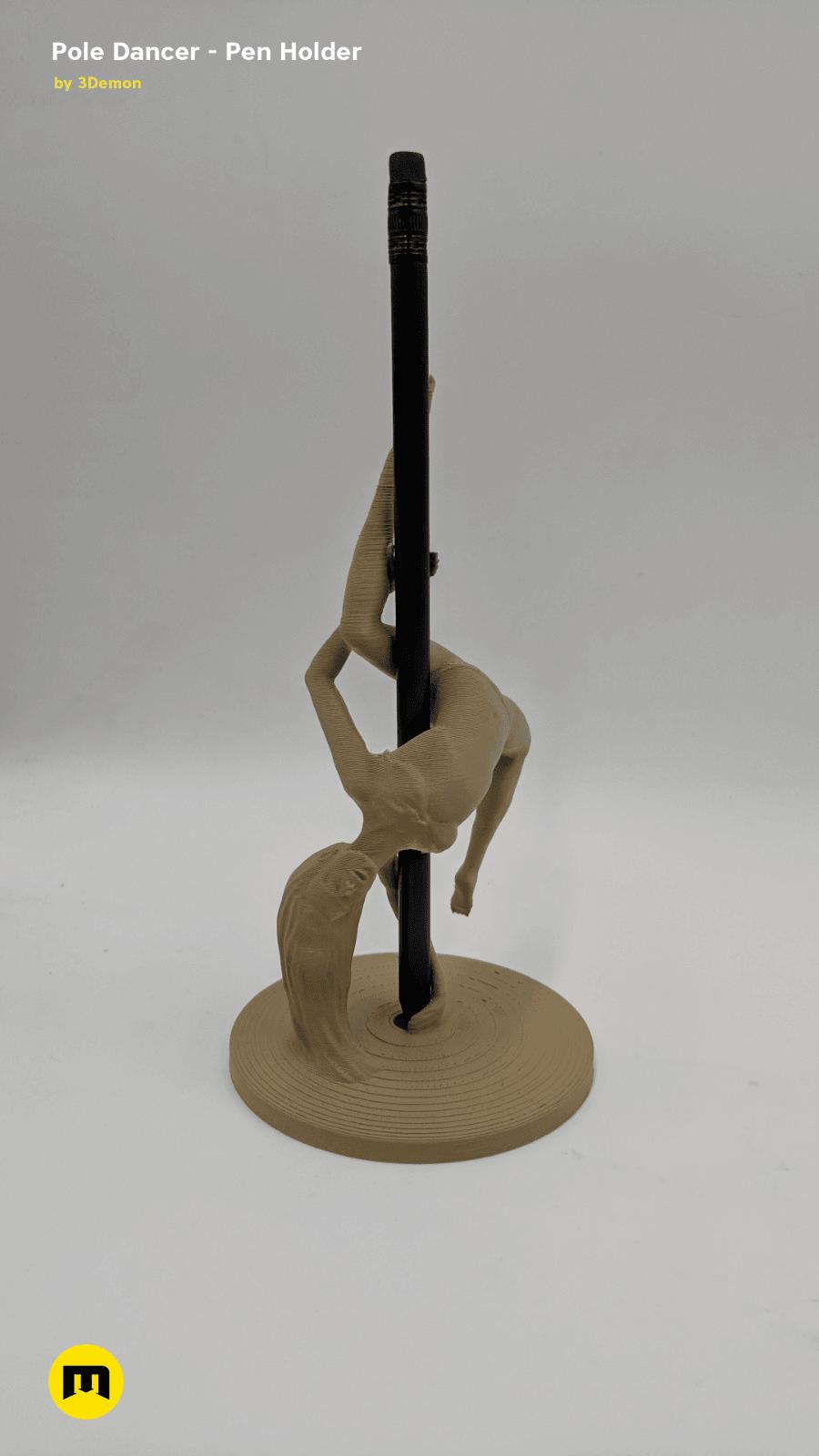IMG_20190219_154859.png Download STL file Pole Dancer - Pen Holder • Object to 3D print, 3D-mon