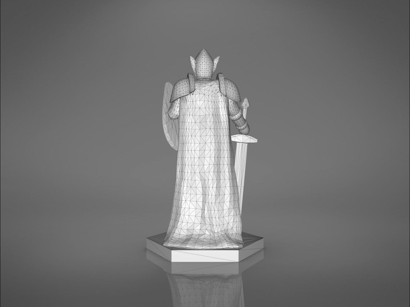 Warrior-back_perspectivve.373.jpg Download STL file ELF WARRIOR CHARACTER GAME FIGURE 3D print model • Object to 3D print, 3D-mon