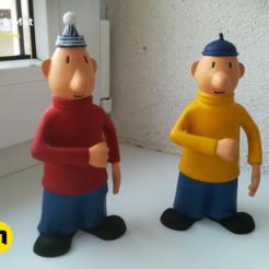 Imprimir en 3D Pat y Man figura, 3D-mon