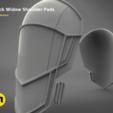 untitled.382.png Download STL file White shoulder armor – BLACK WIDOW 3D PRINT MODEL • 3D printable template, 3D-mon