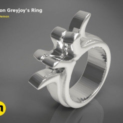 Download free STL file Greyjoy ring, 3D-mon