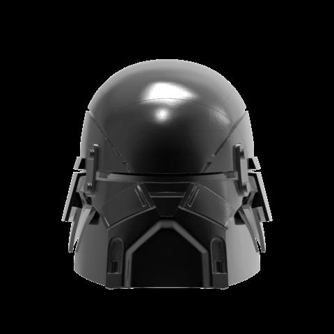 render_scene-front.29.png Download STL file Armory - Knights of Ren Helmet, StarWars model for 3D Print • 3D printing design, 3D-mon