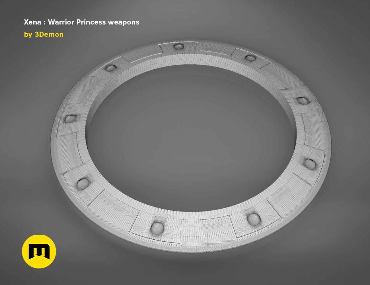render_scene_xena-weapons-mesh.65 kopie.jpg Download STL file Xena - Warrior Princess Chakrams • 3D print model, 3D-mon