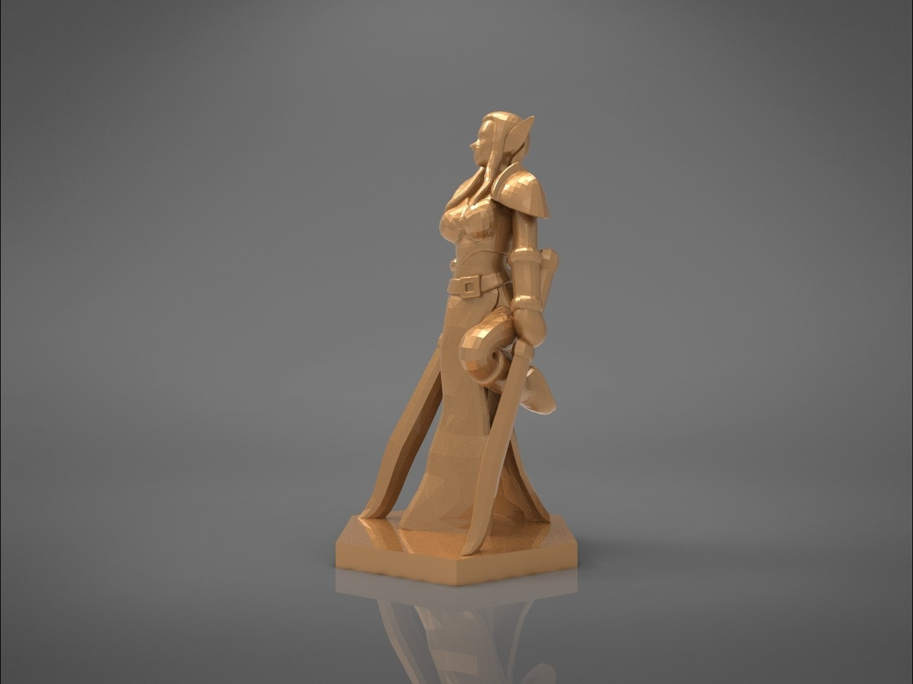 Warrior_2-right_perspective.317.jpg Download STL file ELF WARRIOR FEMALE CHARACTER GAME FIGURE 3D print model • 3D printing object, 3D-mon