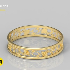 Download STL file Ring rose, 3D-mon