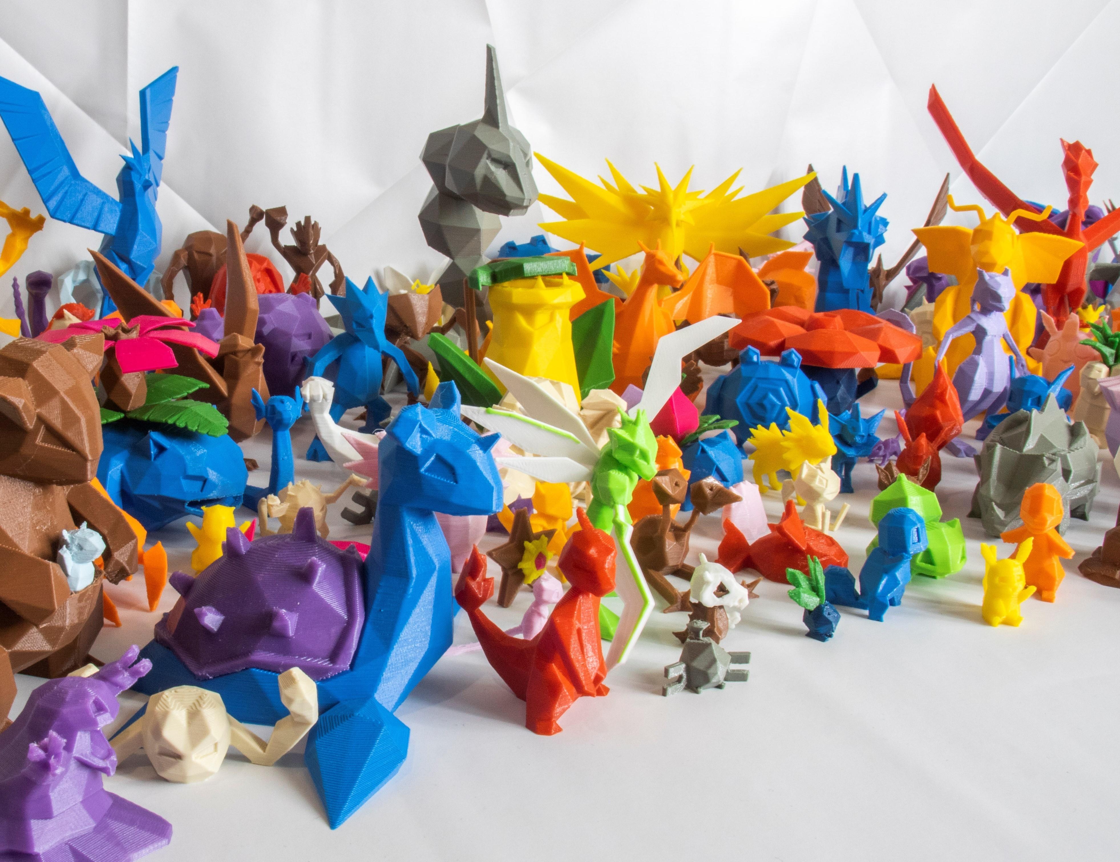 3Demon-pokemon-low-poly-main.jpg Télécharger fichier STL gratuit Gengar Low-poly Pokemon • Modèle pour impression 3D, 3D-mon