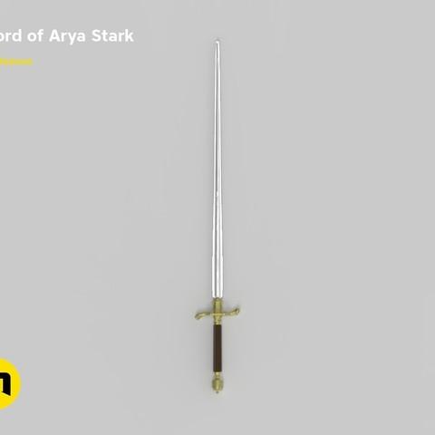 STL file Needle Arya sword, 3D-mon