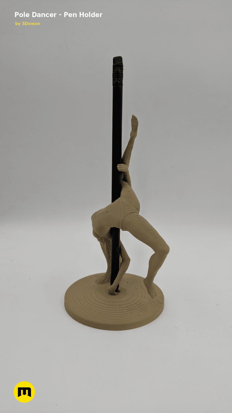 IMG_20190219_154907.png Download STL file Pole Dancer - Pen Holder • Object to 3D print, 3D-mon