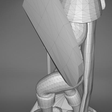Warrior-detail_4.387.jpg Download STL file ELF WARRIOR CHARACTER GAME FIGURE 3D print model • Object to 3D print, 3D-mon
