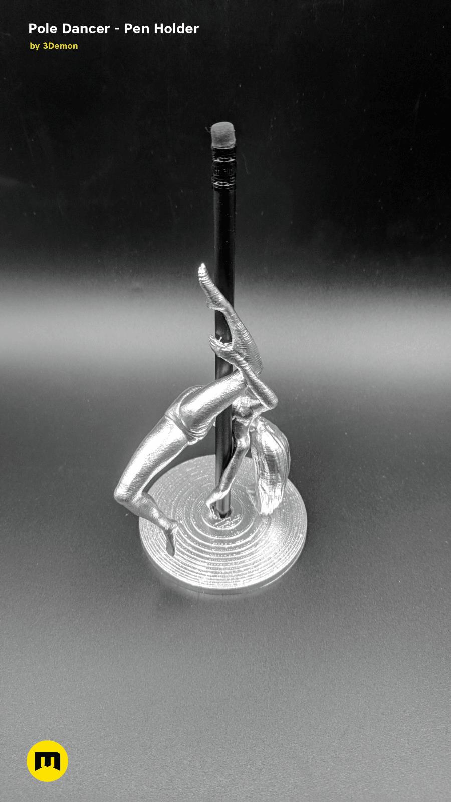 IMG_20190220_103211.png Download STL file Pole Dancer - Pen Holder • Object to 3D print, 3D-mon