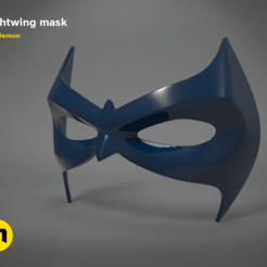 Download STL files Nightwing mask, 3D-mon