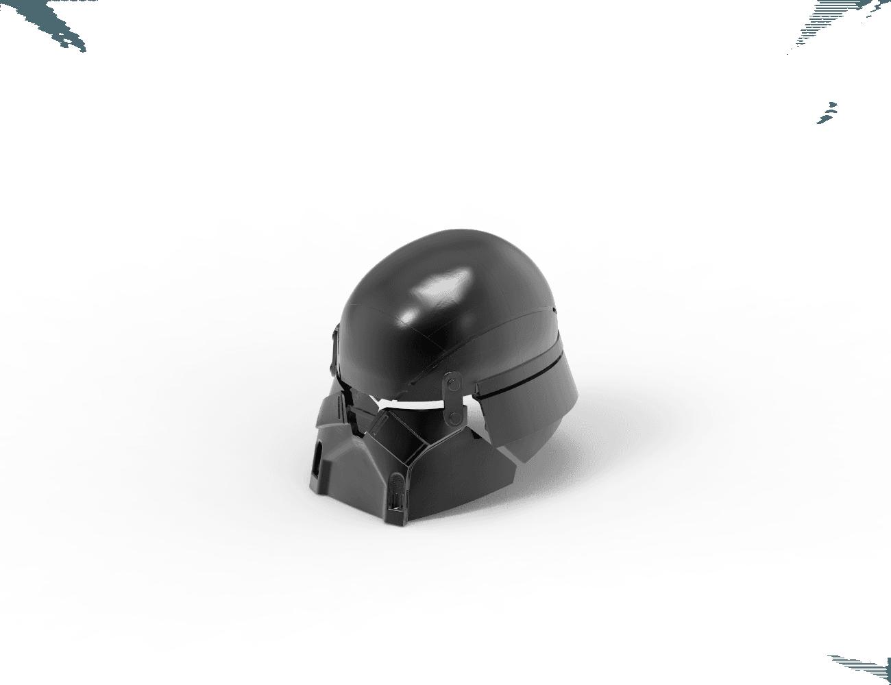 render_scene-isometric_parts.19.png Download STL file Armory - Knights of Ren Helmet, StarWars model for 3D Print • 3D printing design, 3D-mon