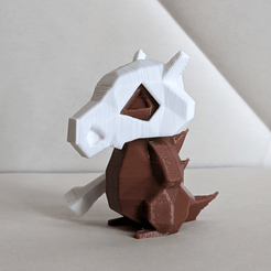 IMG_20200217_180926.png Download STL file Cubone Low Poly Pokemon • 3D print object, 3D-mon