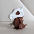 Download STL file Cubone Low Poly Pokemon • 3D print object, 3D-mon