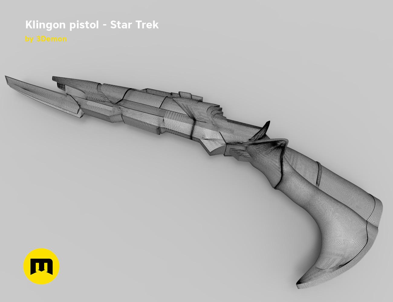 render_pistol_mesh.853.jpg Download STL file Klingon pistol – Star Trek • Template to 3D print, 3D-mon