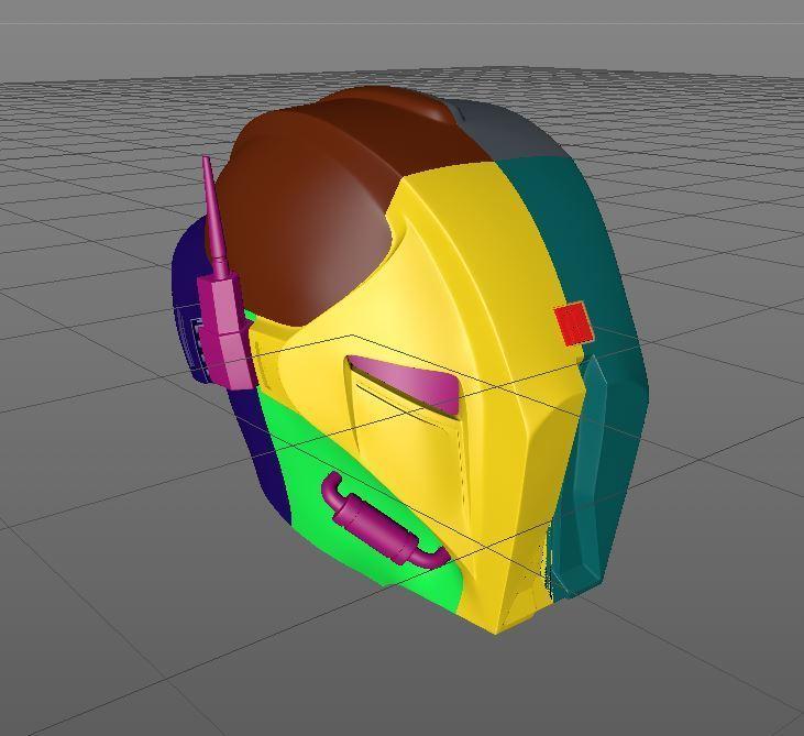 parts.JPG Download STL file HK47 Assassin Droid - Star Wars - Helmet 3D print model • Template to 3D print, 3D-mon