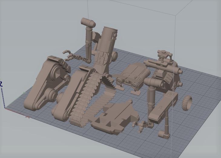 Screenshot_28.png Download STL file Johnny 5 - 3D print model • 3D printable template, 3D-mon