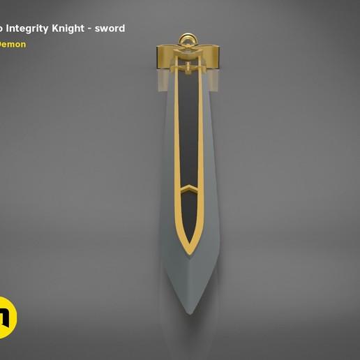 render_scene_Integrity-knight-sword.12 kopie.jpg Download STL file Kirito's Sword - Integrity Knight • 3D print model, 3D-mon