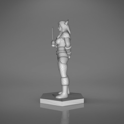 Rogue_2-right_perspective.465.jpg Download STL file ELF ROGUE FEMALE CHARACTER GAME FIGURES 3D print model • 3D printer object, 3D-mon
