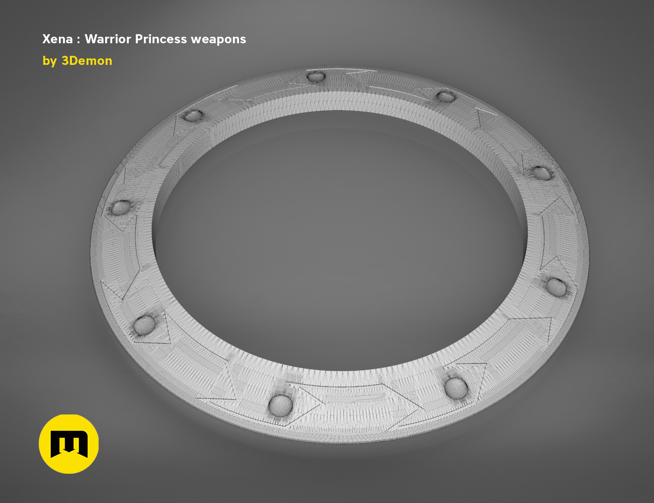 render_scene_xena-weapons-mesh.63 kopie.jpg Download STL file Xena - Warrior Princess Chakrams • 3D print model, 3D-mon