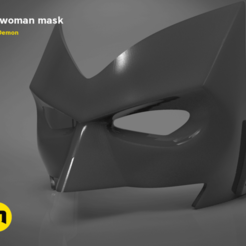 Download 3D printer templates Batwoman mask, 3D-mon