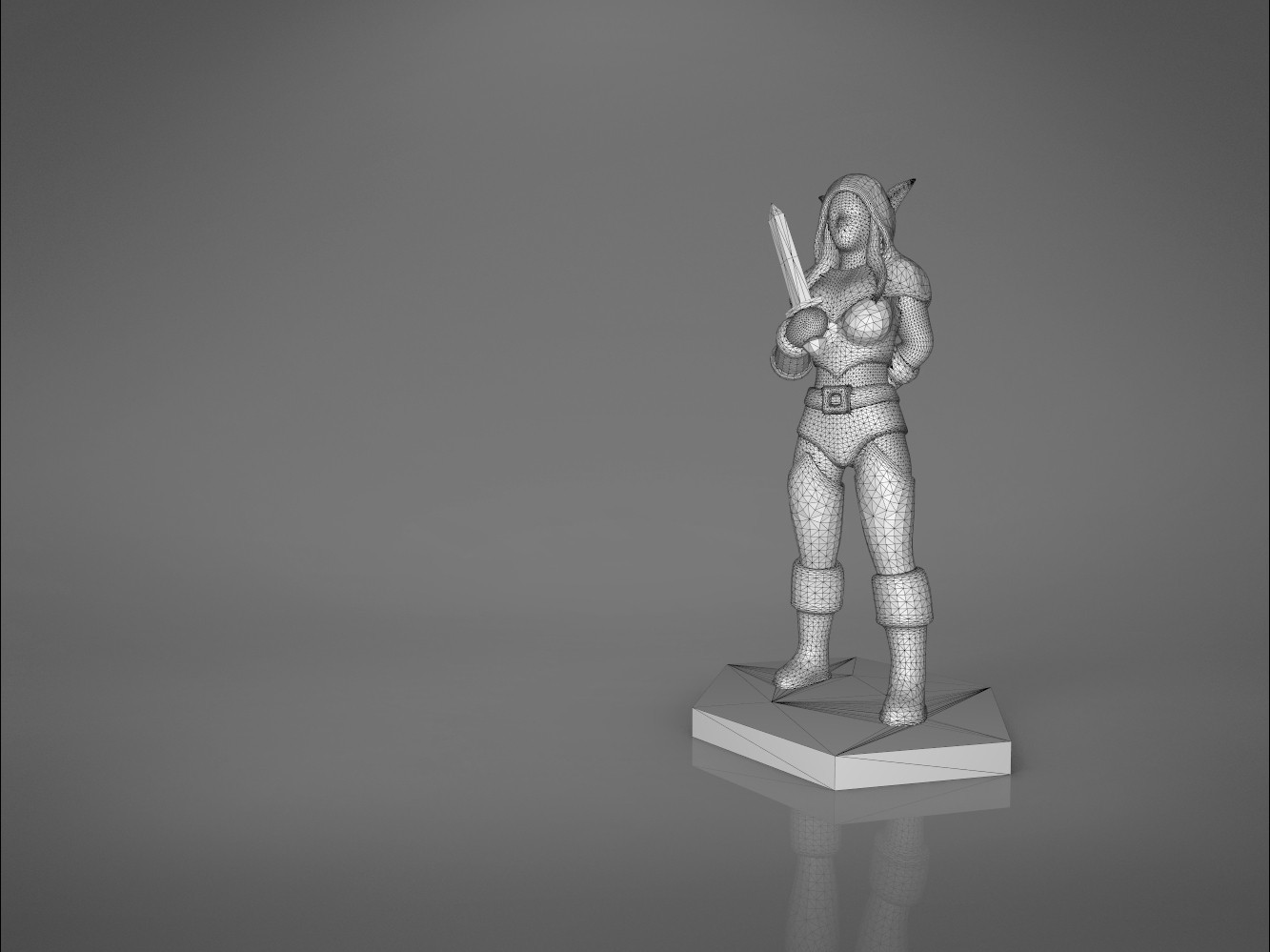 Rogue_2-main_render.457.jpg Download STL file ELF ROGUE FEMALE CHARACTER GAME FIGURES 3D print model • 3D printer object, 3D-mon