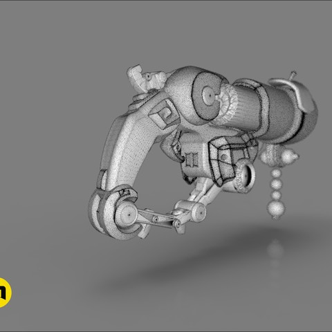 CGTrader_Roadhog_gun_bajie29.jpg Download STL file Overwatch Roadhog Gun Bajie • Model to 3D print, 3D-mon