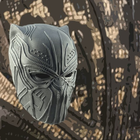 STL files KILLMONGER GOLDEN JAGUAR MASK 3D PRINT MODEL, 3D-mon