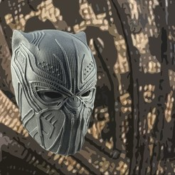 killmonger background.jpg Télécharger fichier STL MASQUE DE JAGUAR DORÉ KILLMONGER MODÈLE D'IMPRESSION 3D • Plan à imprimer en 3D, 3D-mon