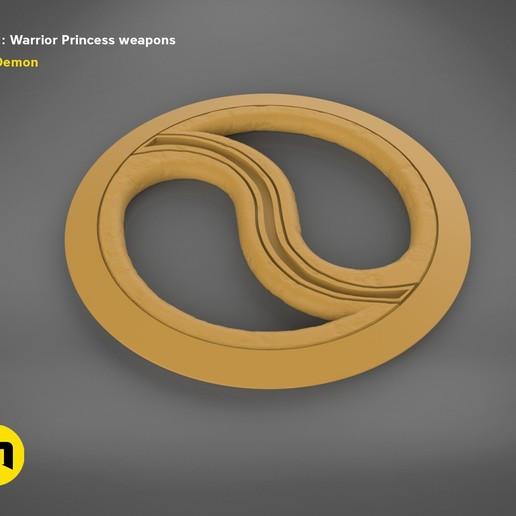 render_scene_xena-weapons-basic.56 kopie.jpg Download STL file Xena - Warrior Princess Chakrams • 3D print model, 3D-mon