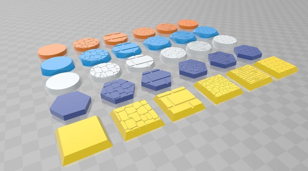 1fe311ce10fd9b24a52ca2a4757c92f6_display_large.JPG Download free STL file Bases Collection _Textures • 3D printing object, 3D-mon