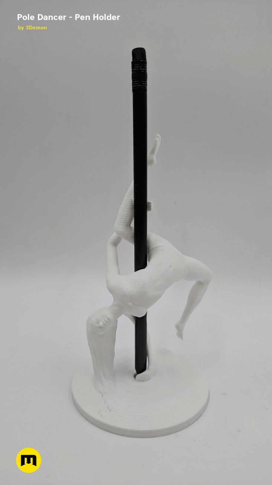 IMG_20190219_142016.png Download STL file Pole Dancer - Pen Holder • Object to 3D print, 3D-mon