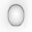 render_scene-top.103.png Download OBJ file Sniper - Knights of Ren Helmet mask, Star Wars 3D print model • 3D printable model, 3D-mon